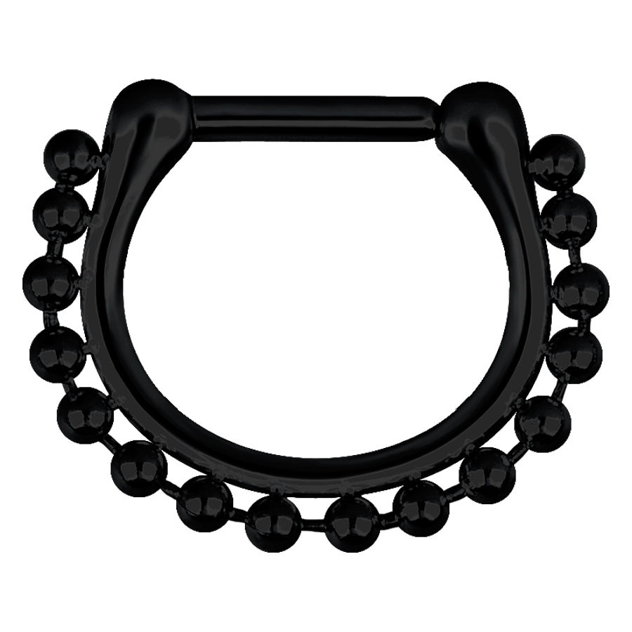 Steel Blackline® - Hinged Septum Shiny Chain