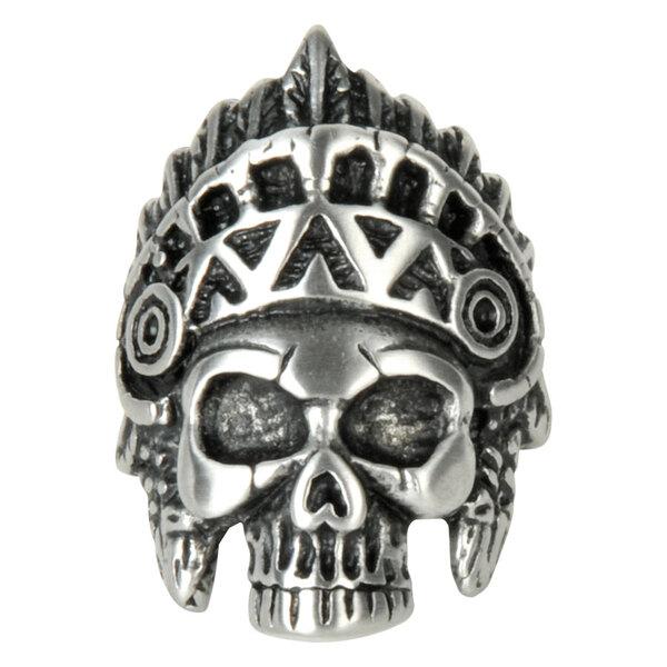 Steel Basicline® Indian Skull Ring Matt