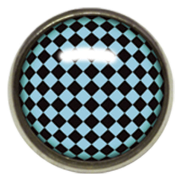 Titan Highline® Internally Threaded Ikon Disc Black and Blue Check