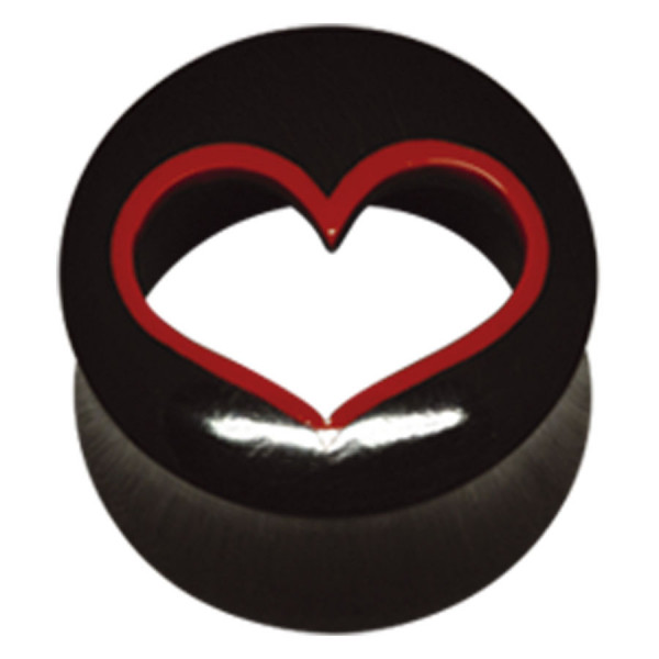Buffalo Horn Cut-Out Heart Plug