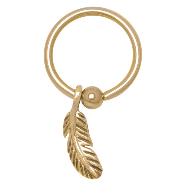 Steel Basicline® - Feather Ring gold S1,2/O10,0