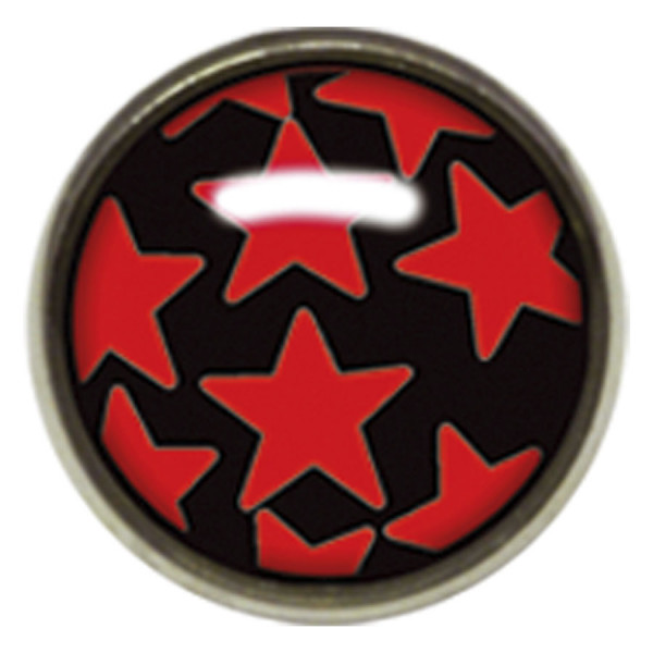 Titan Highline® Internally Threaded Ikon Disc Red Stars on Black