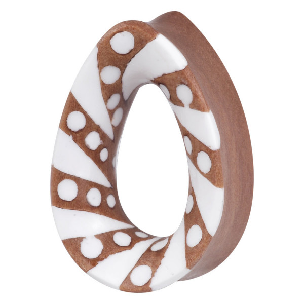 Teardrop Wood Plug Spiral Dots