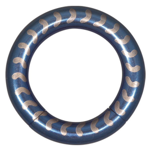 Steel Basicline® Elektra Blue Smooth Segment Ring Vertebra