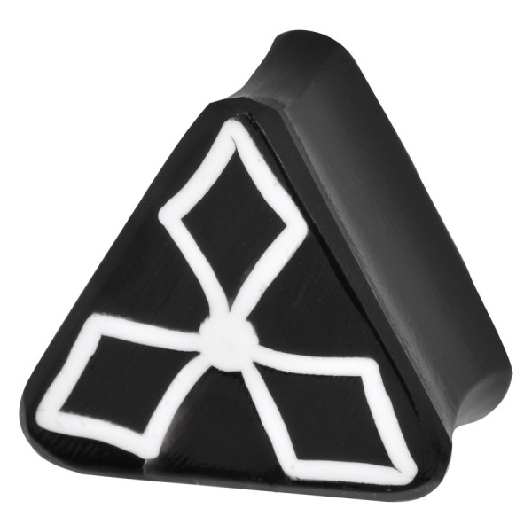 Triangle Design Buffalo Horn Plug