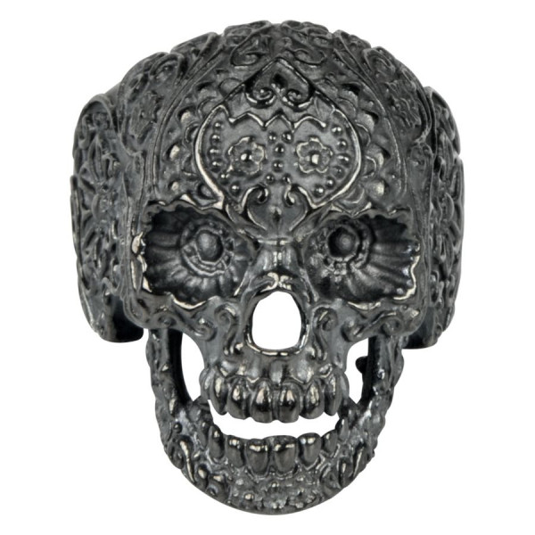 Tattooed Skull Ring