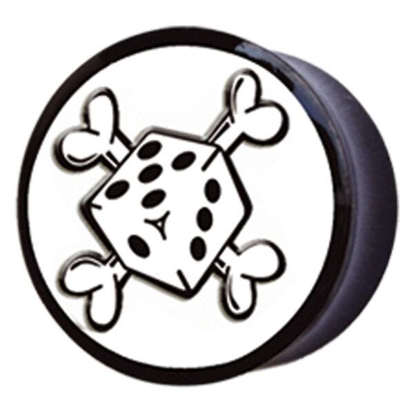Buffalo Horn Dice & Crossbones Plug