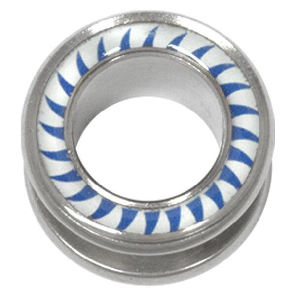 Steel Basicline® Halo Flesh Tunnel Shark Tooth Blue White
