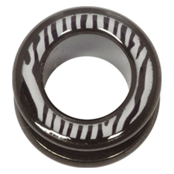 Steel Blackline® Halo Flesh Tunnel Zebra