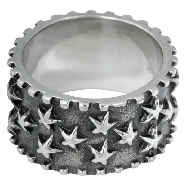 Steel Basicline® Stars Ring