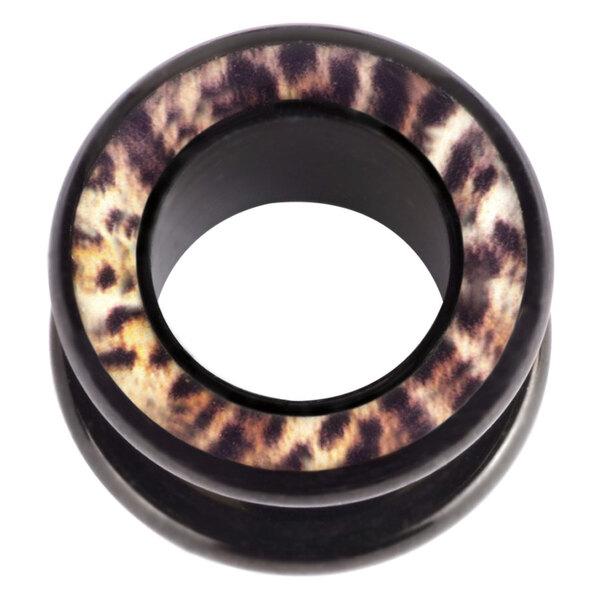 Steel Blackline® Halo Flesh Tunnel Leopard