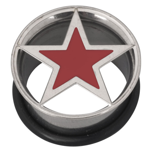 Steel Basicline® Lazer Cut Single Flared Eyelet Red Star
