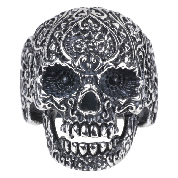 Steel Basicline® Skull Tattoo Ring