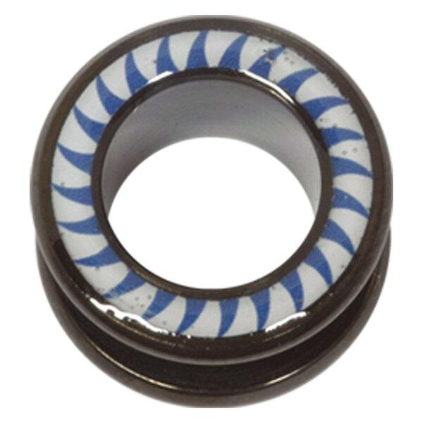 Steel Blackline® Halo Flesh Tunnel Shark Tooth Blue White