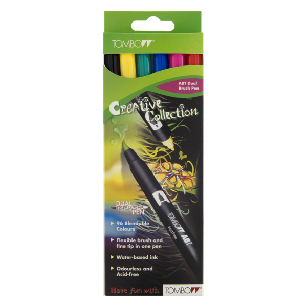 Dual Brush Pen 6er