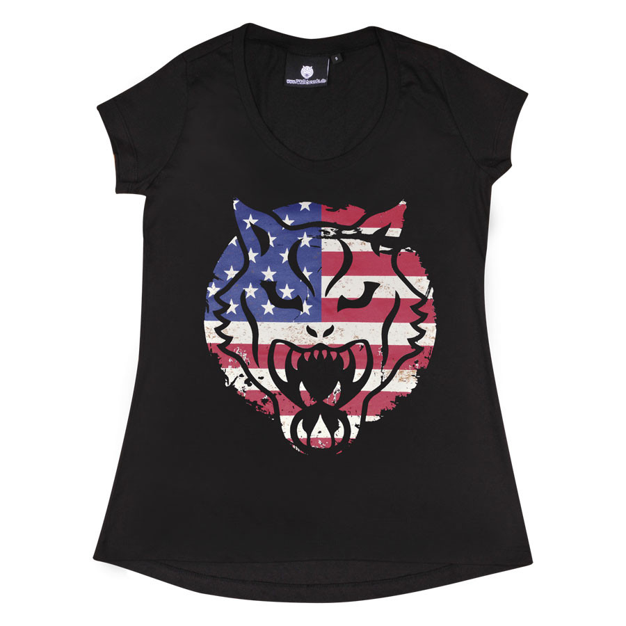 "Wildcat® Damen T-Shirt ""USA"""