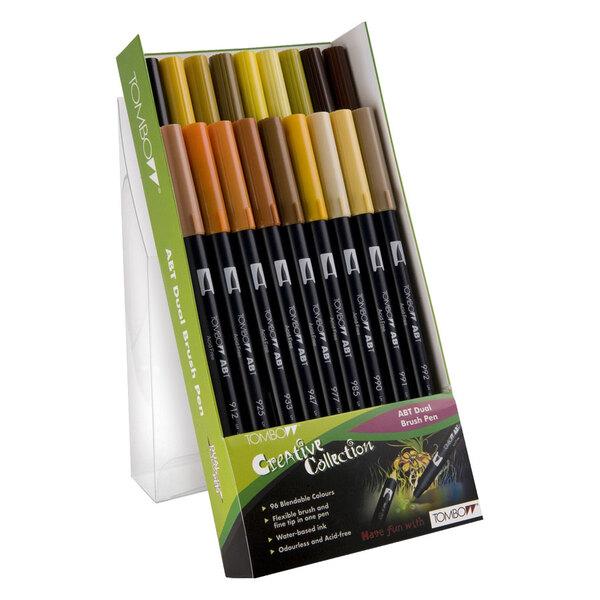 Tombow - Dual Brush Pen 18er Set Erdfarben