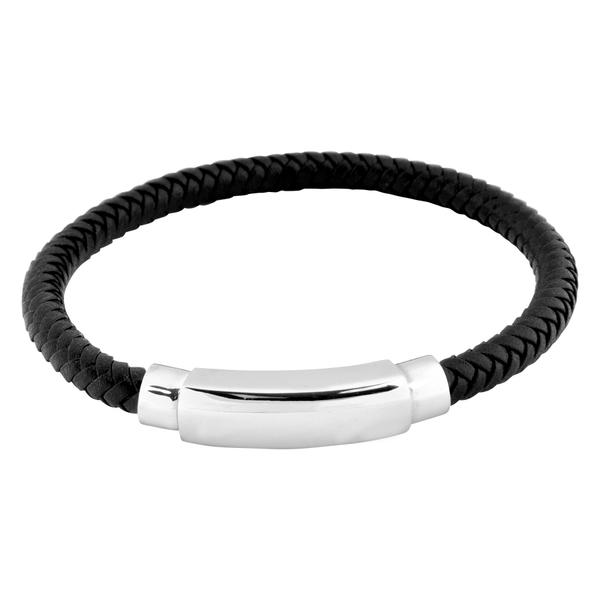 Black Braided Rock Bracelet