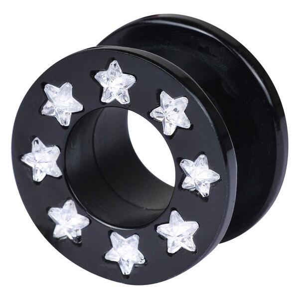 Black Acrylic Jewelled Star Tunnel