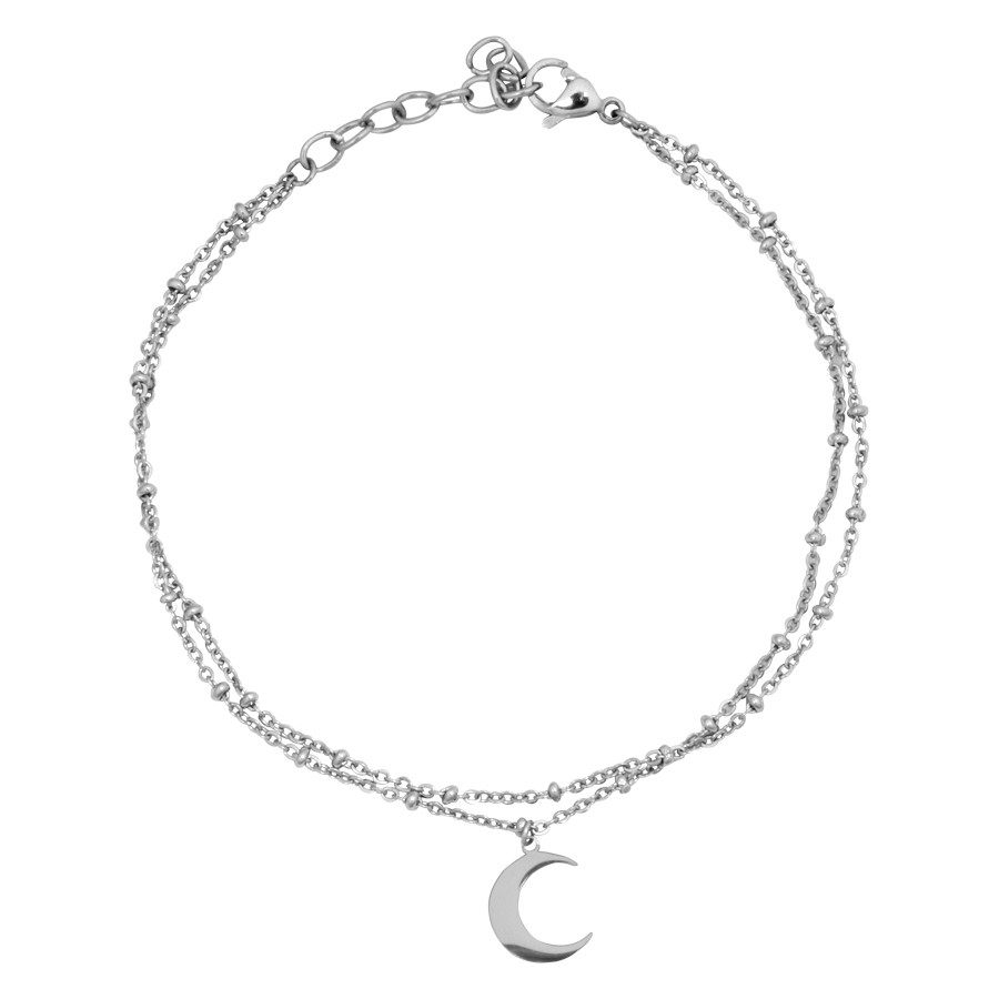 Moon Multilayer Ankle Chain