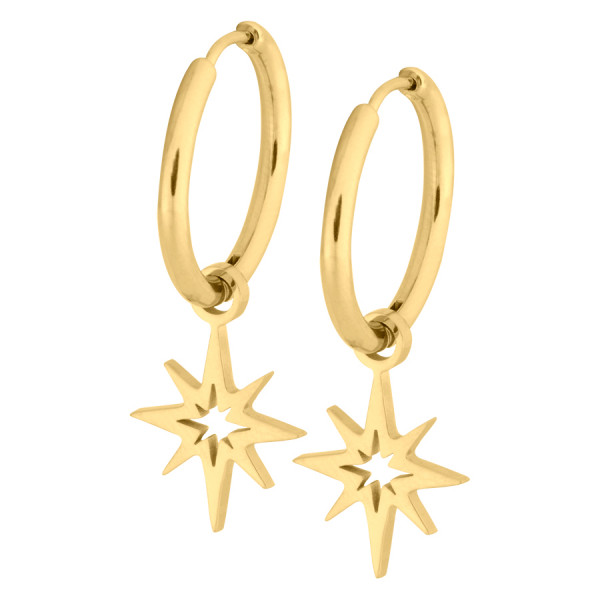 Little Polar Star Hoops