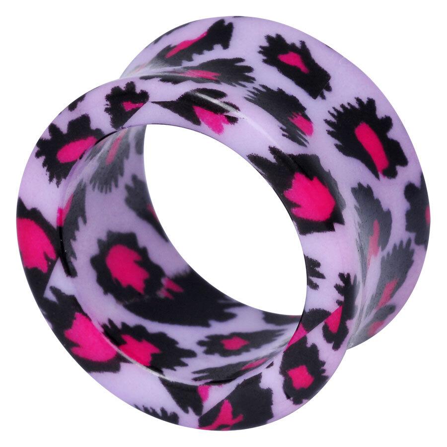 Acrylic Print Tunnel purple Leopard