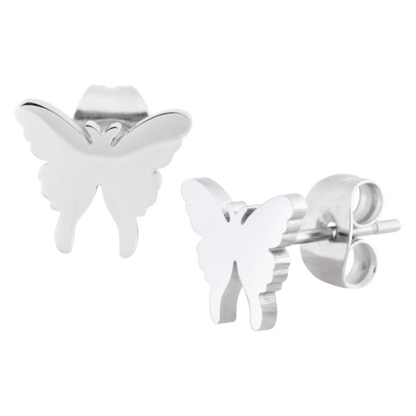 Silver Butterfly Earstuds