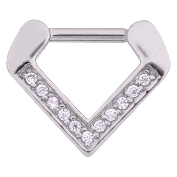 Jewelled Triangle Septum Clicker