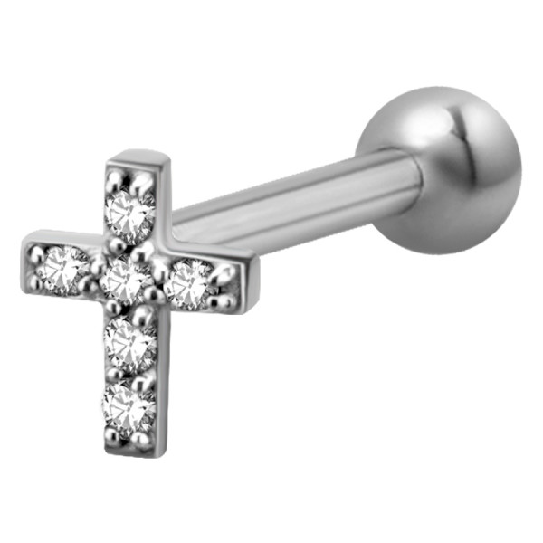 Jewelled Cross Earbarbell