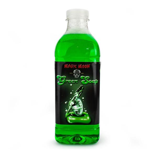 Green Soap Bottle