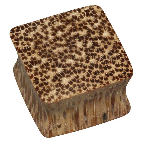 Wood Square Plug - 01 Coconut Wood