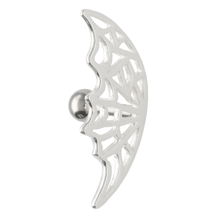Spiderweb Silver Earbarbell