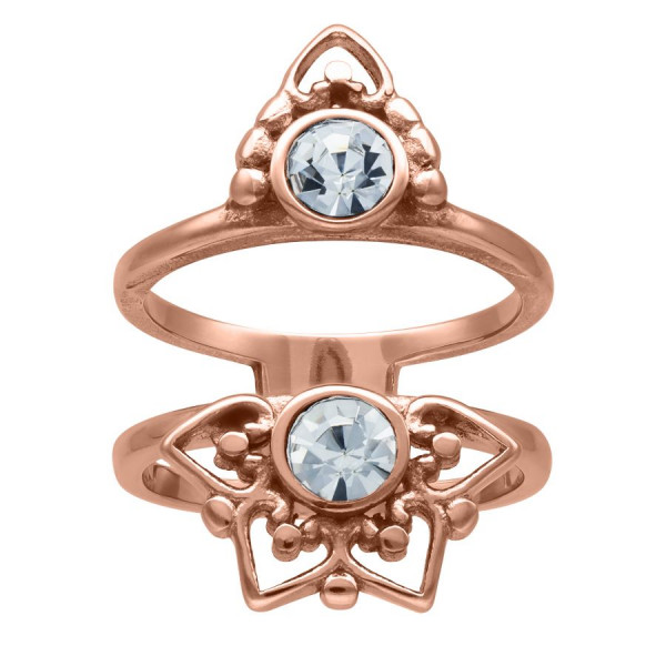 Rosé Gold Sun Tides Ring
