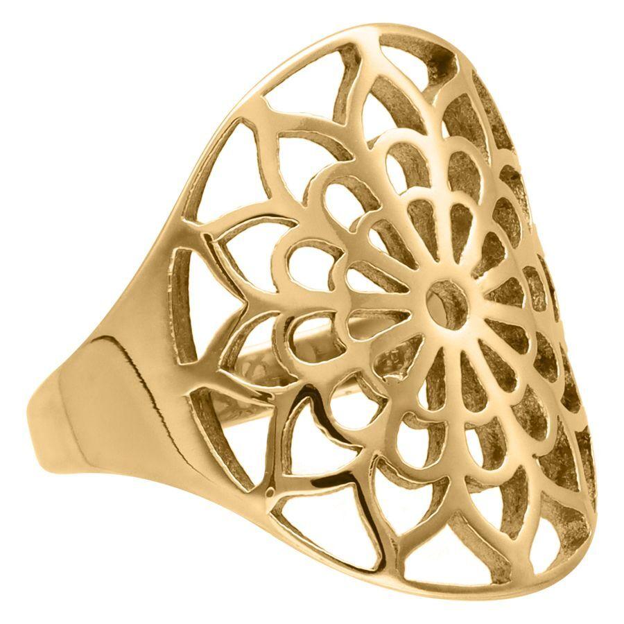 Gold Boho Flower Ring