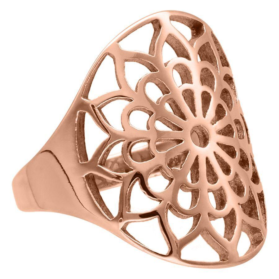 Rosé Golden Boho Flower Ring