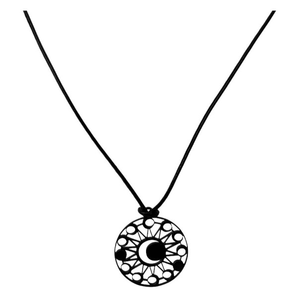 Moon Eclipse Leather Necklace