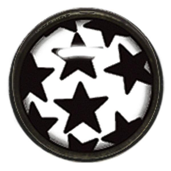 "Titan Blackline® Internally Threaded Ikon Disk ""Black Stars on White"""