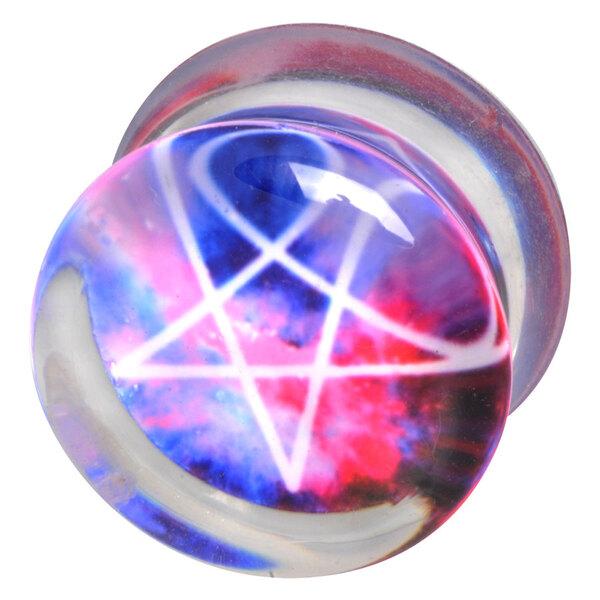 Acrylic - Galaxy Pentagram blau/pink/weiß