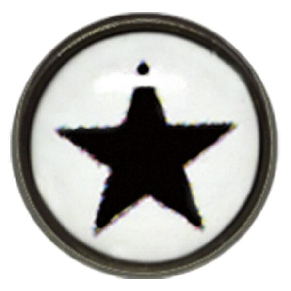 "Titan Blackline® Internally Threaded Ikon Disk ""Black Star on White"""