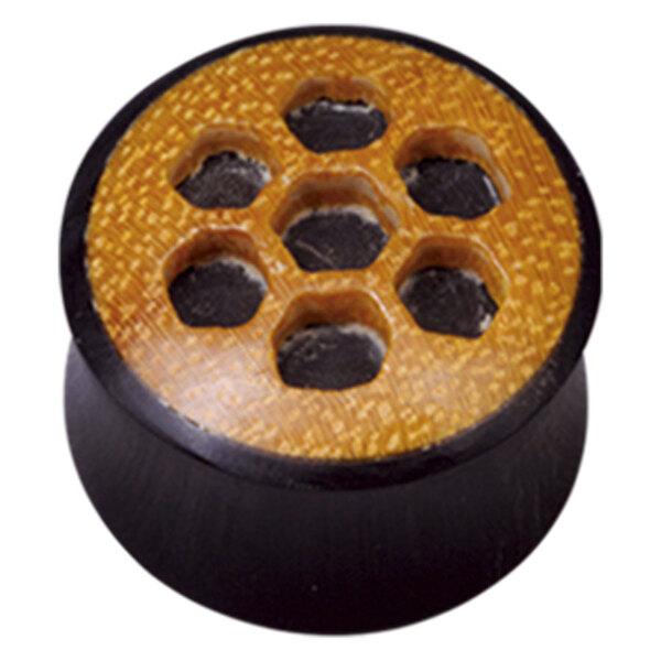 Buffalo Horn Honeycomb Wood Inlay Plug