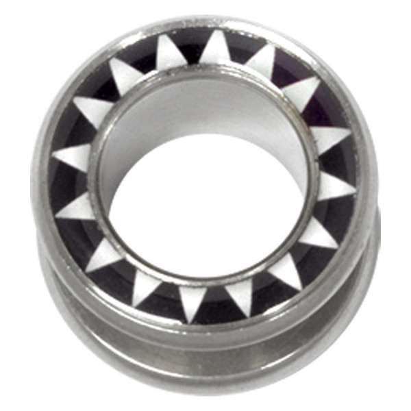 Steel Basicline® Halo Flesh Tunnel Sun White Black