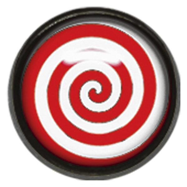 "Titan Blackline® Internally Threaded Ikon Disk ""Red White Spiral"""