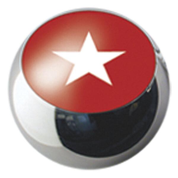 Ikon Screw On Balls White Star on Red