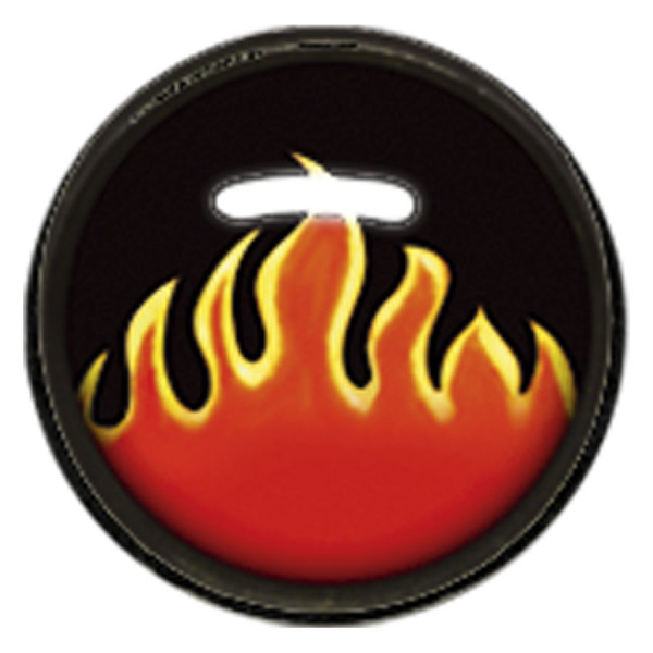 "Titan Blackline® Internally Threaded Ikon Disk ""Flames"""