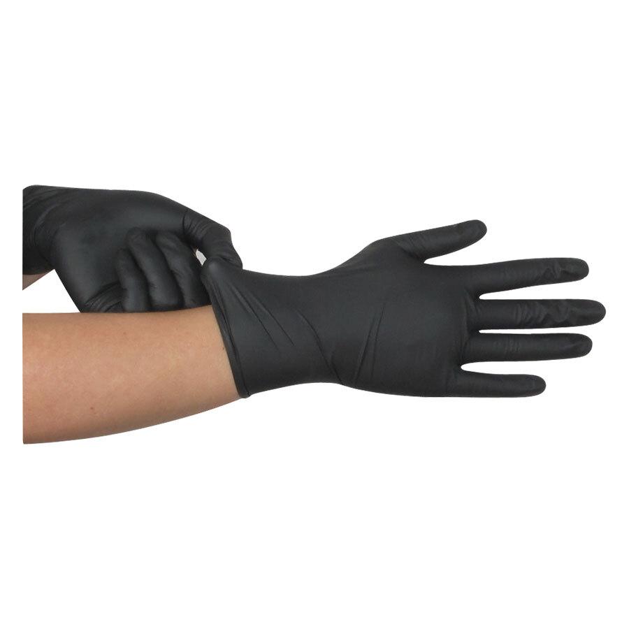 Panthera Latex Gloves - puderfreie schwarze Handschuhe.