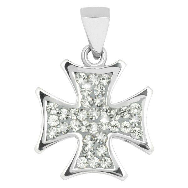 Steel Basicline® - Casting Multi Jewelled Iron Cross