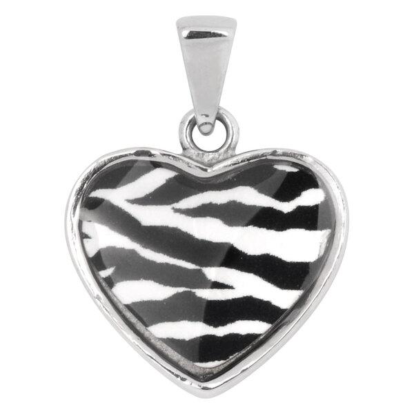 Steel Basicline® - Casting Zebra-Style Heart