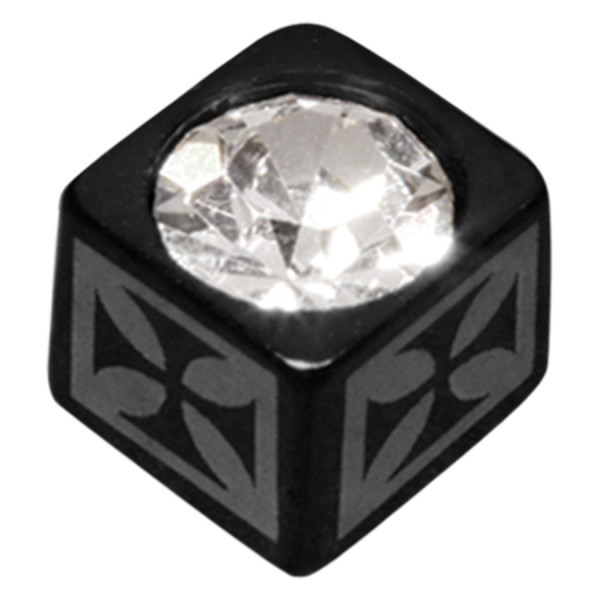 Jewelled Laser Cube Cross