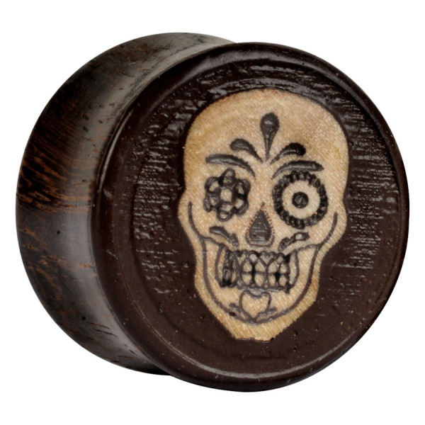 Earganic® - Mexican Skull on Sono Wood 3D