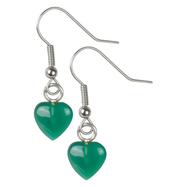 Wildkitten® - Emerald Heart Earrings